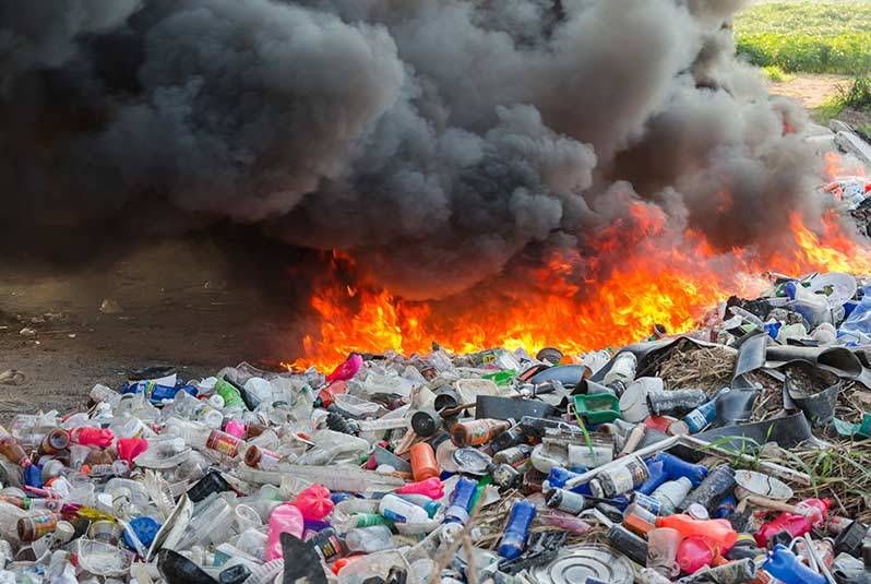 quemar basura